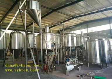 2000L whole brewery equipment for Africa market
