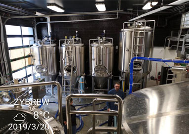 Brewery System Of ZYBREW Installed In North America