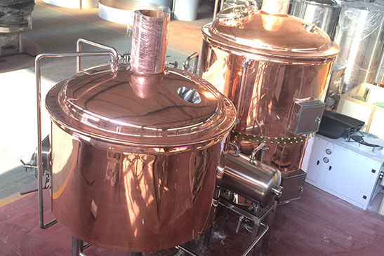 Three vessel combined brewhouse (German style)